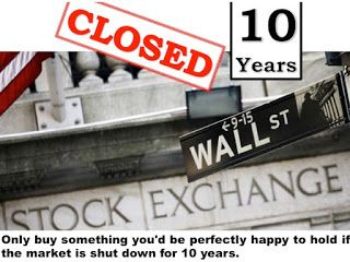 Value Investing: Stock Markets Closed for Ten Years Slide