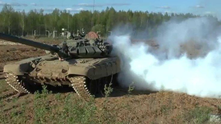 Танк Т-72. Полигон Алабино 02.06.2014г.