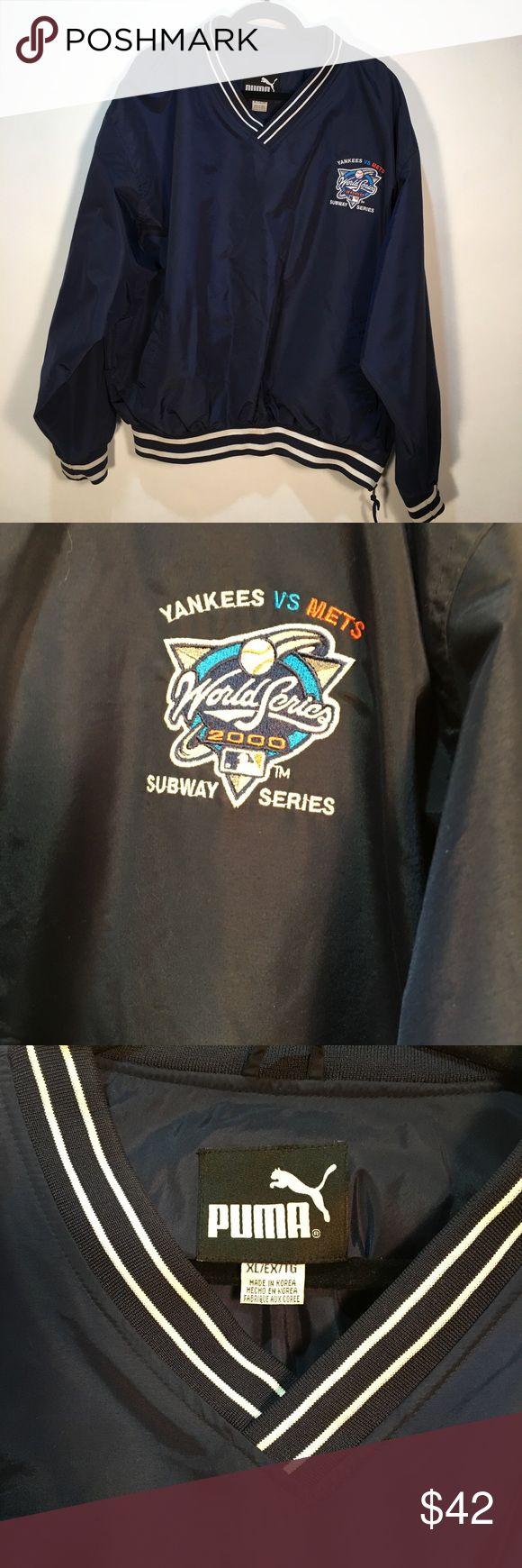 Yankees Met 2000 World Series Puma Jacket Yankees Met 2000 World Series subway series  Puma Jacket with side zip and side pockets . Puma Jackets & Coats Windbreakers