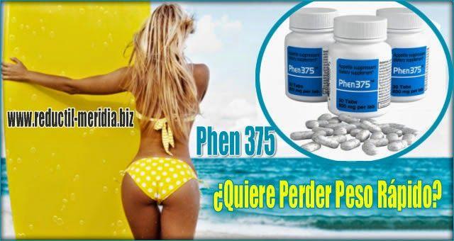 Reductil Meridia Pastillas Para Perder Peso: Phen375  Mejor Quemador De Grasa Online