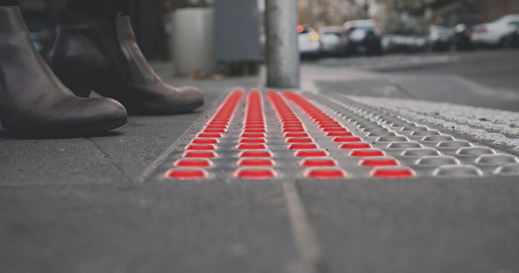 Smart Tactile Paving pavement tiles that could stop phone addicts from walking into traffic
