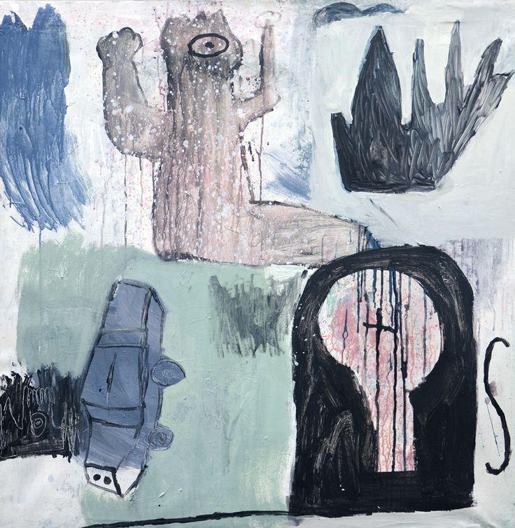 "MATEUSZ CZAPEK / ""SATORI"" / 2013 / olej, akryl, płótno / 106 x 106 cm"