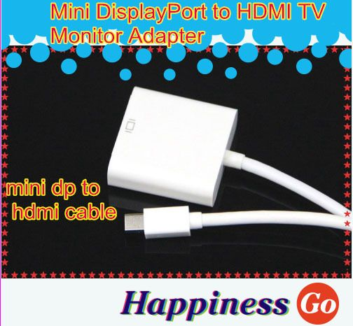 100 pcs Mini DisplayPort to HDMI TV Monitor Adapter for Macbook Free shipping