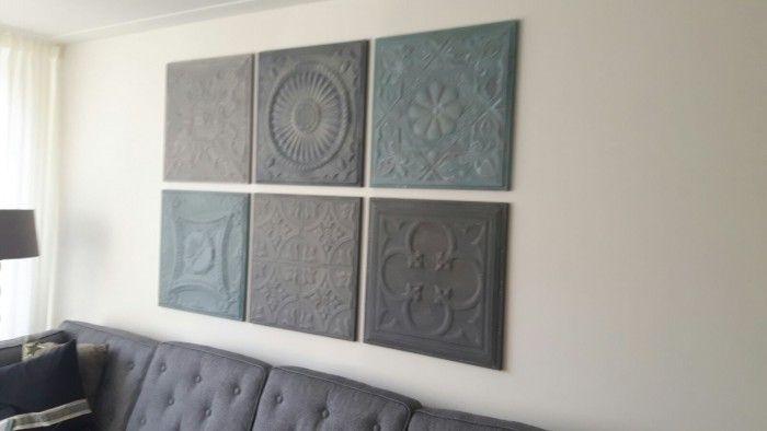 De combinatie van grijze tinten met de oud blauwe panelen is erg populair. De kleur blauw past ook bijna bij alles wat blauw, turquoise of groen is. Weer een geslaagde keuze!