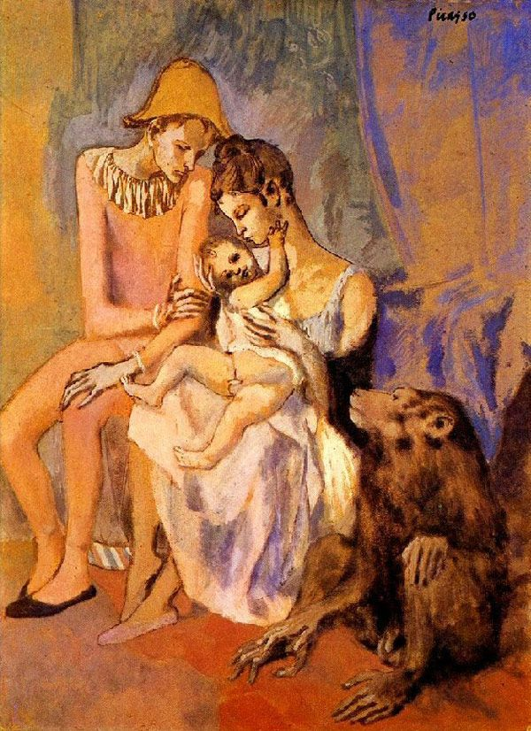 Pablo Picasso - The Acrobat's Family with a Monkey, 1905