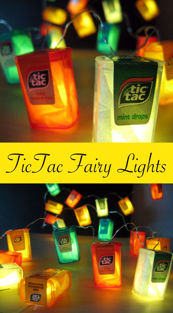 Let's upcycle them into these super easy TicTac fairy lights!