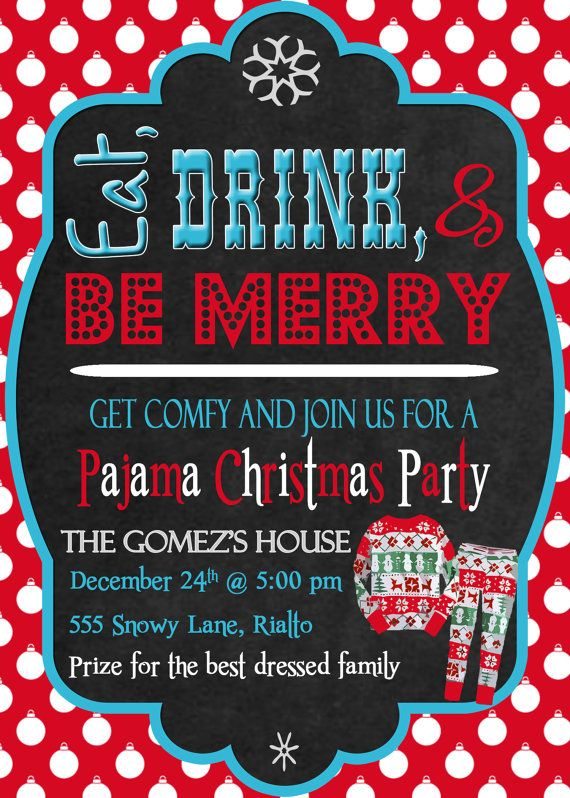 22 best Christmas Pajama Party images on Pinterest Christmas - invitation letter for home party