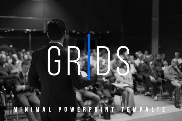 Grids-Minimal Powerpoint Template by dublin_design on @creativemarket