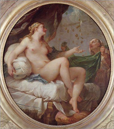 Danae by Charles Natoire (1735) .