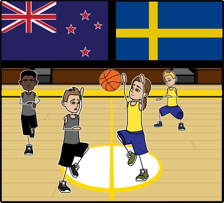 Olympics for Kids - Classroom Activities - Close Up of Olympic Basketball Storyboard: The Olympics are a great event to use as a teaching moment for international relations and teamwork! Have students create a storyboard about the Basketball portion of the Olympic Games!