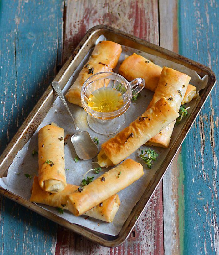 Lemon & Vanilla: Gruyère and ham pastries / Rolinhos de massa filo ...