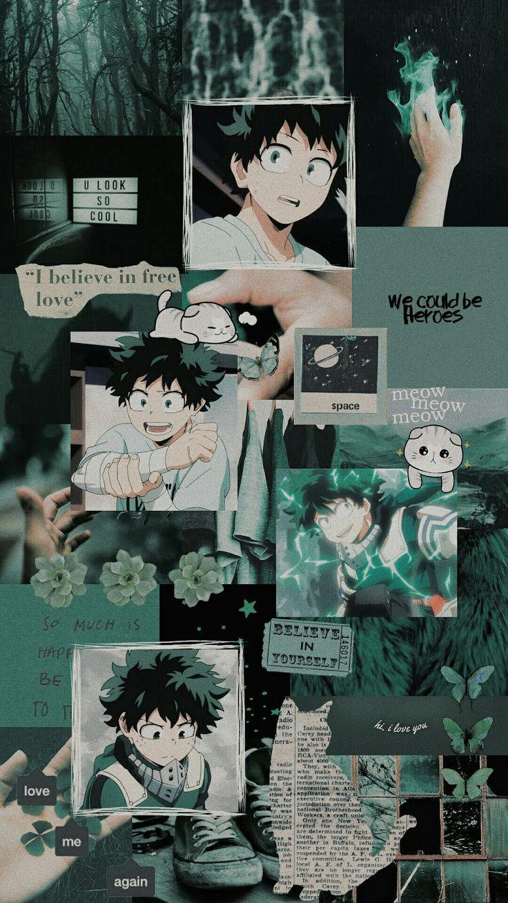 Download for free wallpaper from anime my hero academia with tags: Izuku Midoriya | Cute anime wallpaper, Hero wallpaper ...