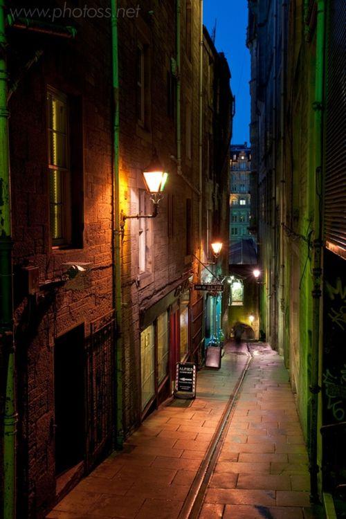 Side Street, Edinburgh, Scotland