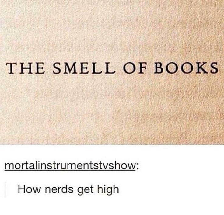 O cheiro de livros - como nerds ficam chapados