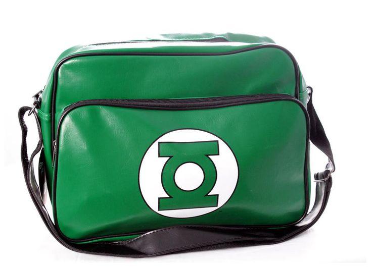 Bandolera Linterna Verde, logo Espectacular bandolera, unisex,  basada en el personaje de DC cómics, Linterna Verde (Green Lantern).