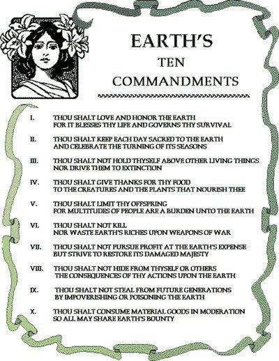 whether you be Wiccan, Pagan, Christian, Atheist, Baptist, Buddhist...you should follow these.