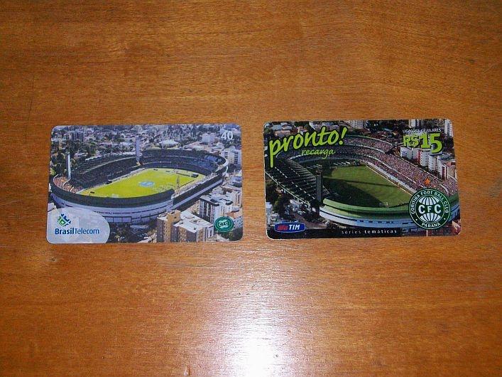 Cartões telefônicos do Coritiba