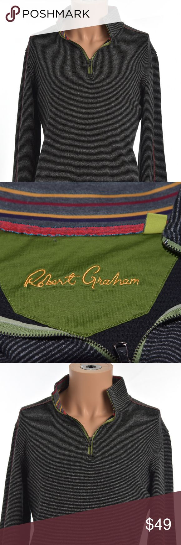 Robert Graham 100% Cotton L/S Half Zip Sweater Robert Graham Men's Small S 100% Cotton Long Sleeve Half Zip Sweater  Size: Small Robert Graham Sweaters Zip Up