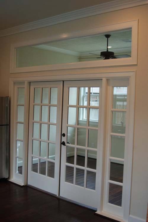 Nice internal windows and transom for separation of spaces. Eg. home office, tv room, etc. Can close the doors but still feels open