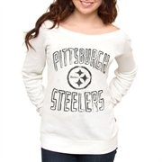 So cute!  Pittsburgh Steelers Ladies Classic Off-The-Shoulder Sweatshirt - WhiteClassic Offtheshoulder, Classic Off The Should, Lady Classic, Junk Food, Off The Should Sweatshirts, Pittsburgh Steelers, Steelers Lady, Food Pittsburgh, Offtheshoulder Sweatshirts