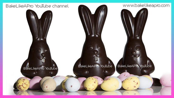 EASY Super Cute 3D Chocolate Easter Bunnies Tutorial   Professional Method