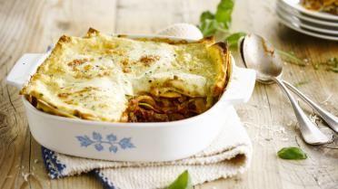 Een lichte, huisgemaakte lasagne