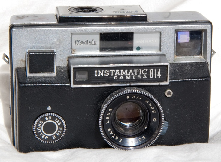 1968-1970 Kodak Instamatic 814 with the flash bulb on the top that got all nasty after the flash.
