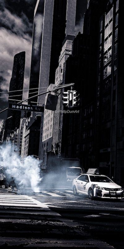 Madison Avenue USA rues de New York City Manhattan vapeur