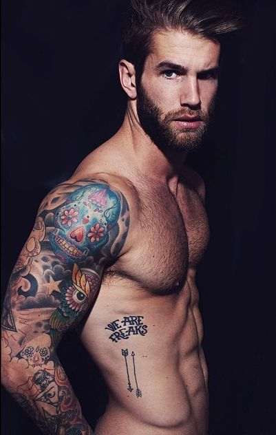 André Hamann, the tattoo, the body, the beard, the face, WOW I'm so glad I still have one eye that works so I can see all the eye candy. The Desert Man A Disabled Veteran getting better by the day.