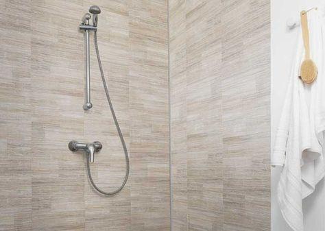 Elément de Grofillex : des lames en PVC pour habiller la douche
