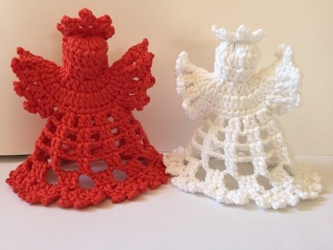 Angelo ad Uncinetto-----Angel crochet - YouTube