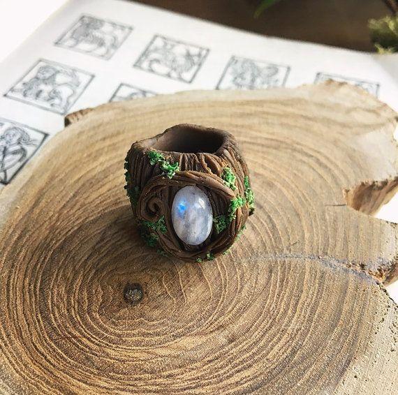 Rainbow Moonstone Dreadlock Bead  Hippie Fairy by GaiasMysticGems