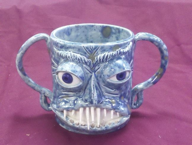 Blue Face Mug By Jason Outlaw Sold Similar Pots Are For