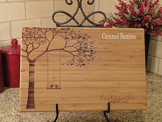 Personalized Cutting Board, Cutting Board, Lasered Engraved, Wedding Present, Anniversary Gift, Bridal Shower Gift, Christmas Present on Etsy, $42.95