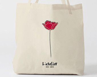 X168Y Tote bag rose, sac nature, sac fleur, sac à main, sac fourre-tout, sac courses, sac cours, sac à pain, sac à langer, sac ordinateur