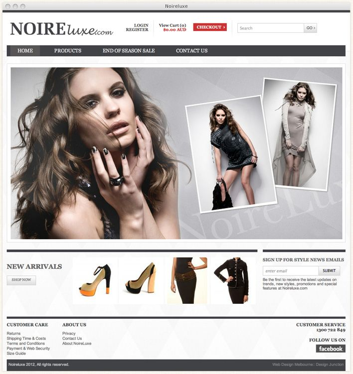NoireLuxe are a luxury online Fashion Retailer for Men and Women, they required a high-end sophisticated ecommerce solution for their online business.     Design Junction has provided the website design and development for their ecommerce site with a smart and elegant look that compliments Noireluxe's fashion items.