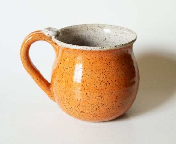 Speckled Mug in Orange & Cream