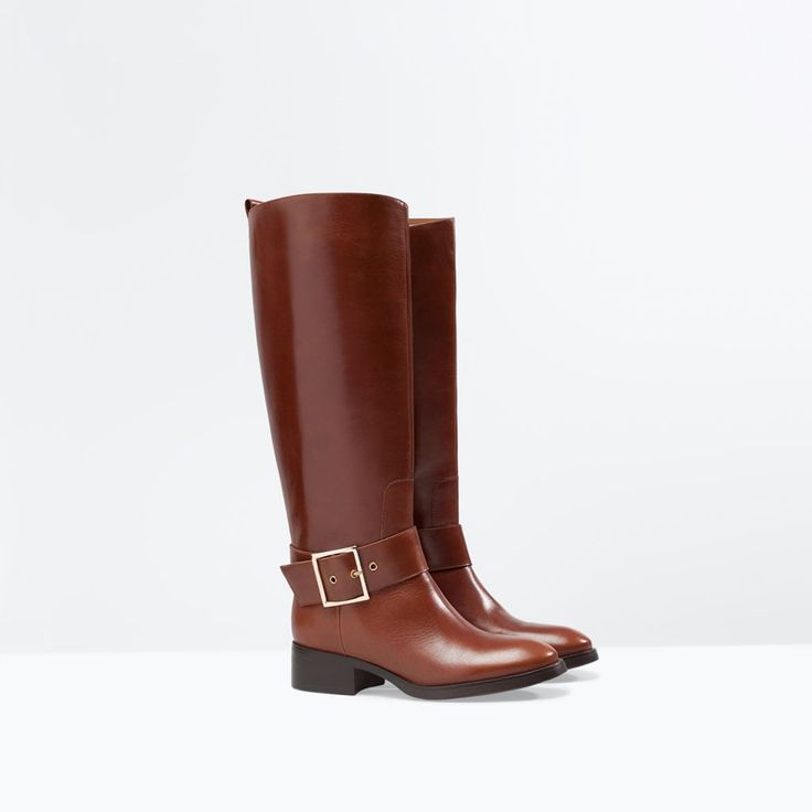 LEATHER RIDING BOOT from Zara 799.90 HRK