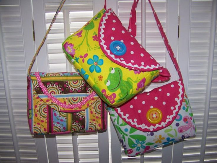 Child's Purse pattern fast easy adorable sewing pd | Craftsy