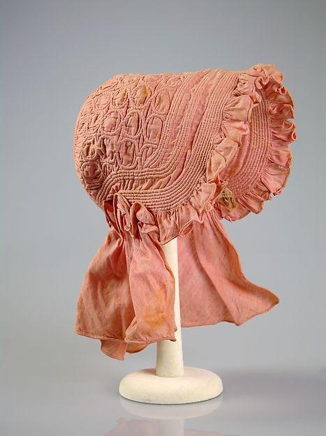 Sunbonnet, cotton, 1840, American, The Met