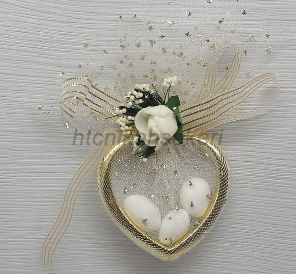 Kalpli Çiçekli Nikah Şekeri