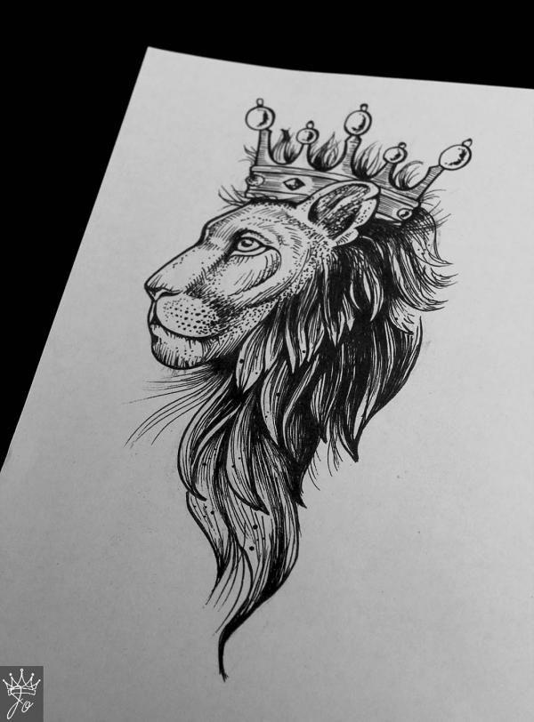 96Не цветные тату лев на руку