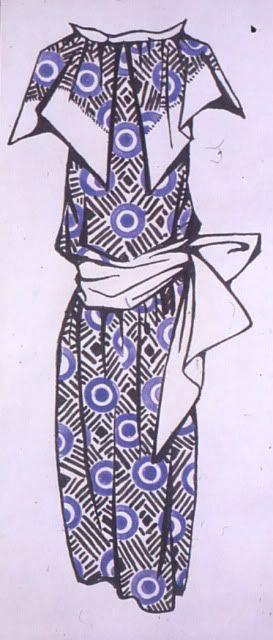 Dress design, 1923-24, Liubov Popova.  ink and watercolour on paper