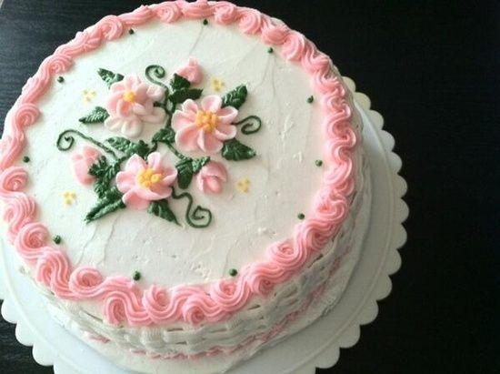 FUN SUGAR COOKIES: Spring flower buttercream cake, basket ...