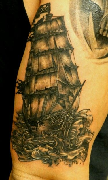 Ship tattoo by BROLIN KOSTA