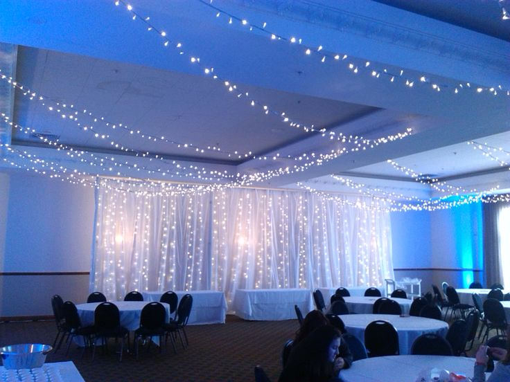 Classic Fairy light Curtain At the new Distinction Event Center. Palmerston North