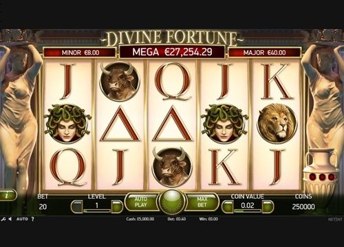 Divine Fortune is a progressive slot that offers extremely high payouts!