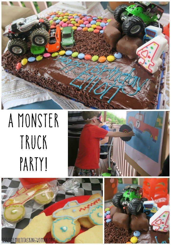 How to throw a Monster Truck Party!   Monster Truck Cake   Monster Truck Games   Monster Truck Party Ideas