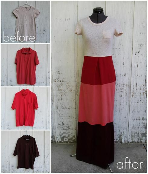 DIY vêtements t-shirts en robe maxi