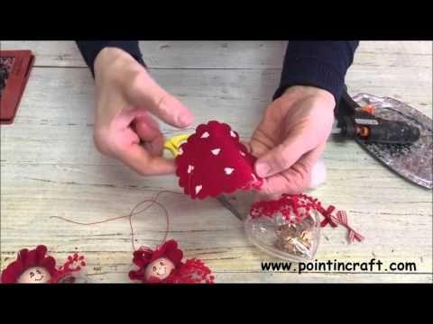 Gnomi o folletti nei vasetti realizzati con i pon pon - YouTube